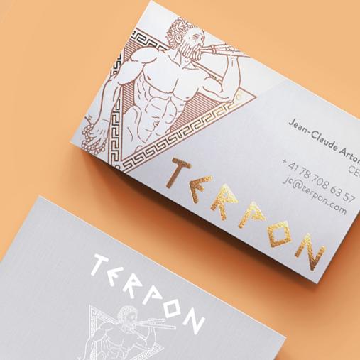 TERPON / Création de logotype  Logo, carte d'affaires