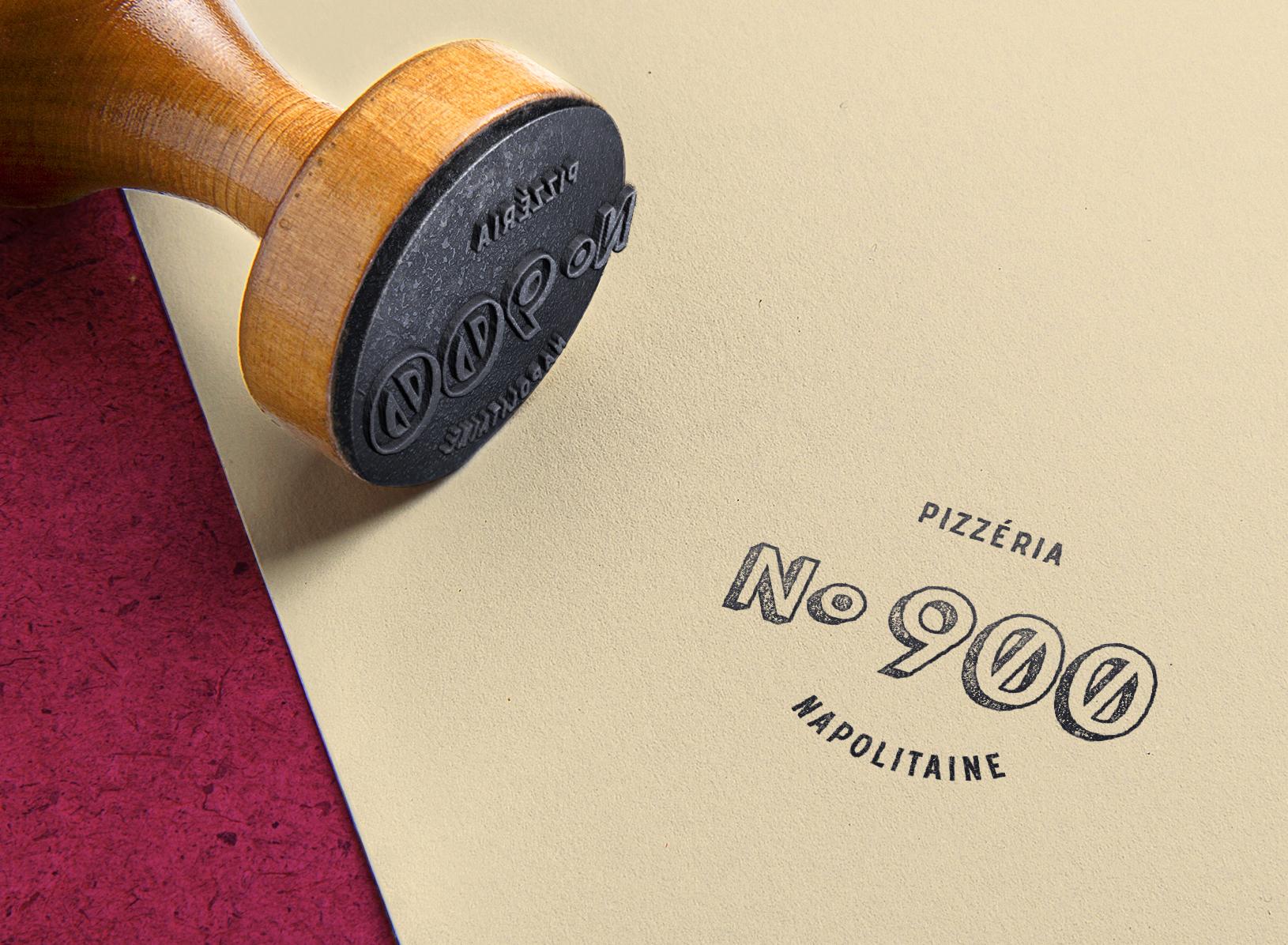 PIZZERIA No.900 / Étampe