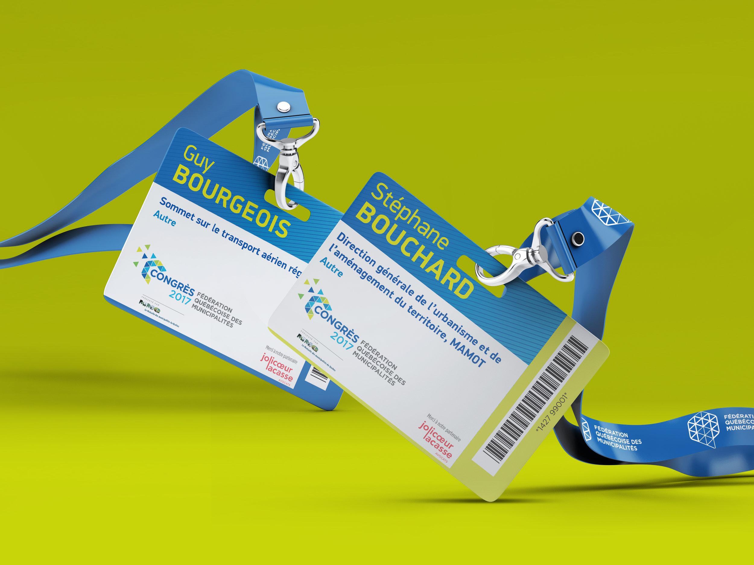 Cocardes personnalisées Fédération Québécoise des Municipalités