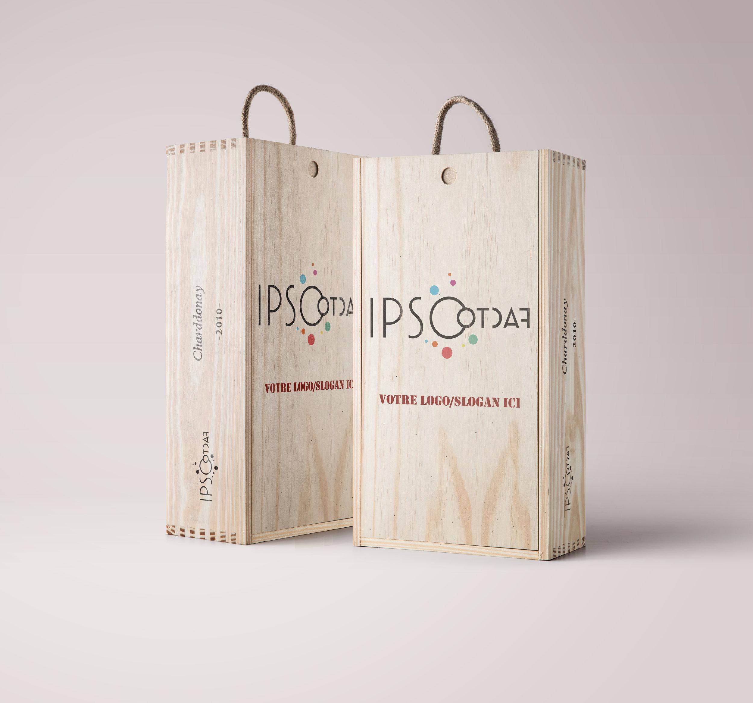 Caisse à vins personnalisée