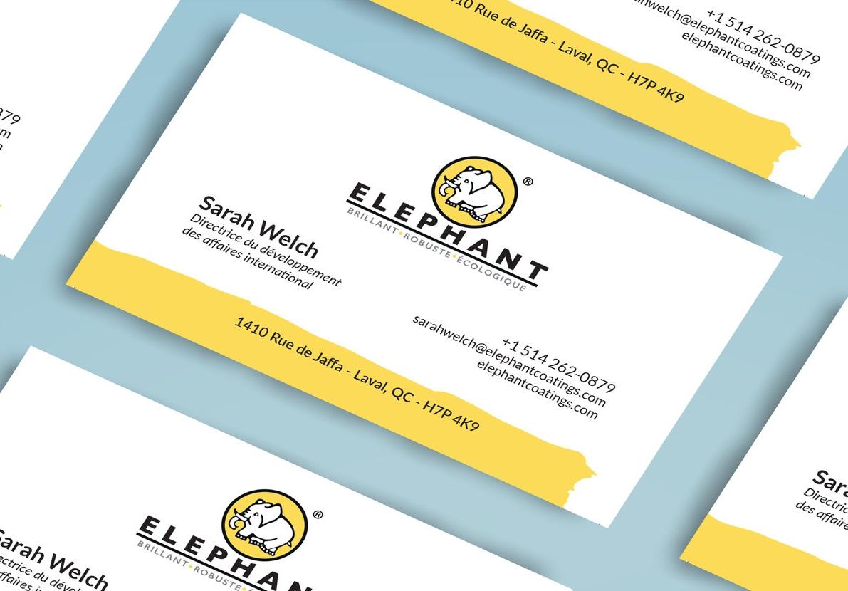 Image de marque et Carte d'affaires Elephant