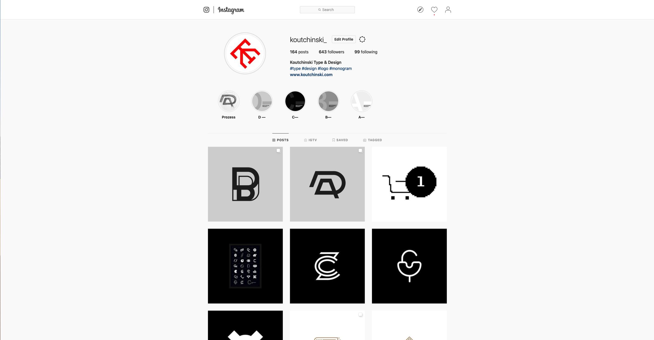 Instagram, der Freund des Designliebhabers