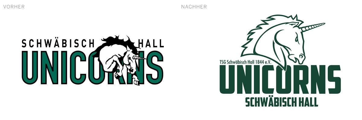 Aufgeräumt, aber die Seele belassen: Die  Schwäbisch Hall Unicorns  (Super Name übrigens)