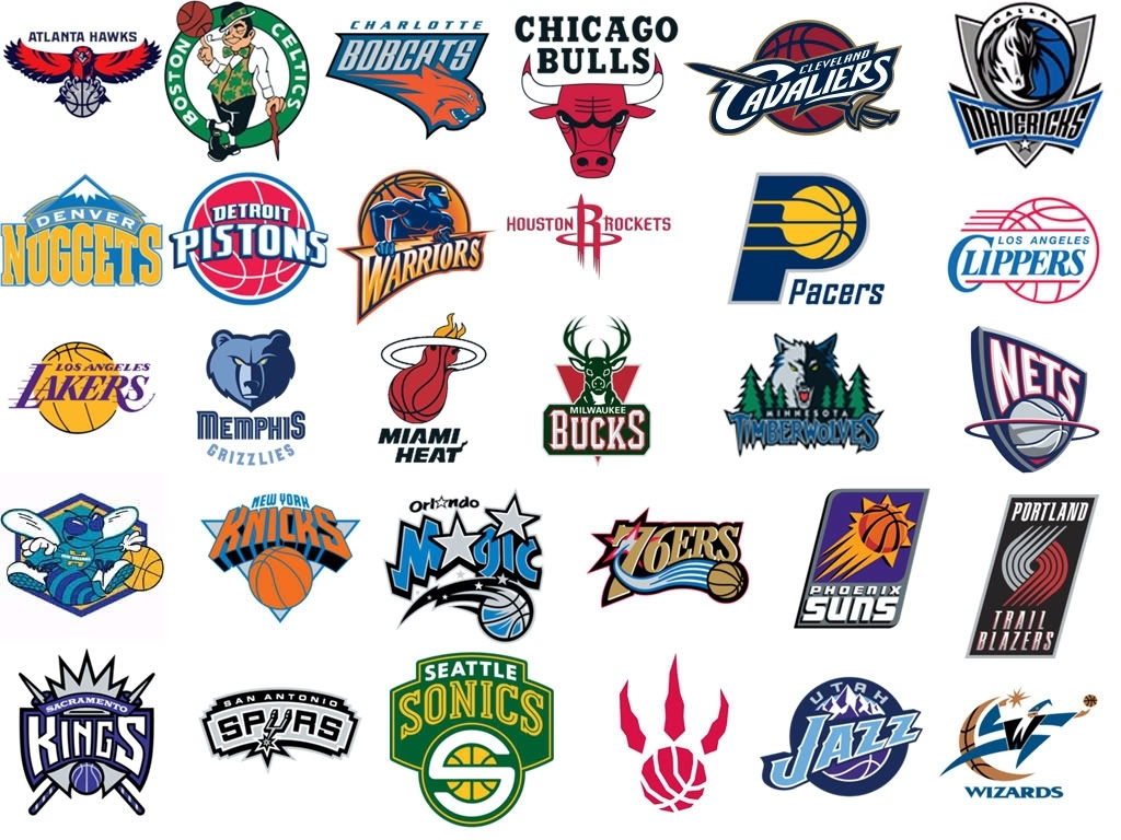 Eine Zusammenstellung der NBA Logos. Ein Fest für die Sinne.