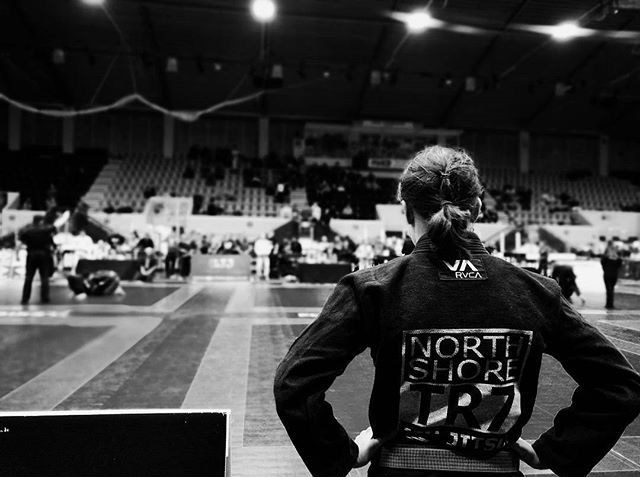 Maddi competes at a high level in jiu jitsu tournaments