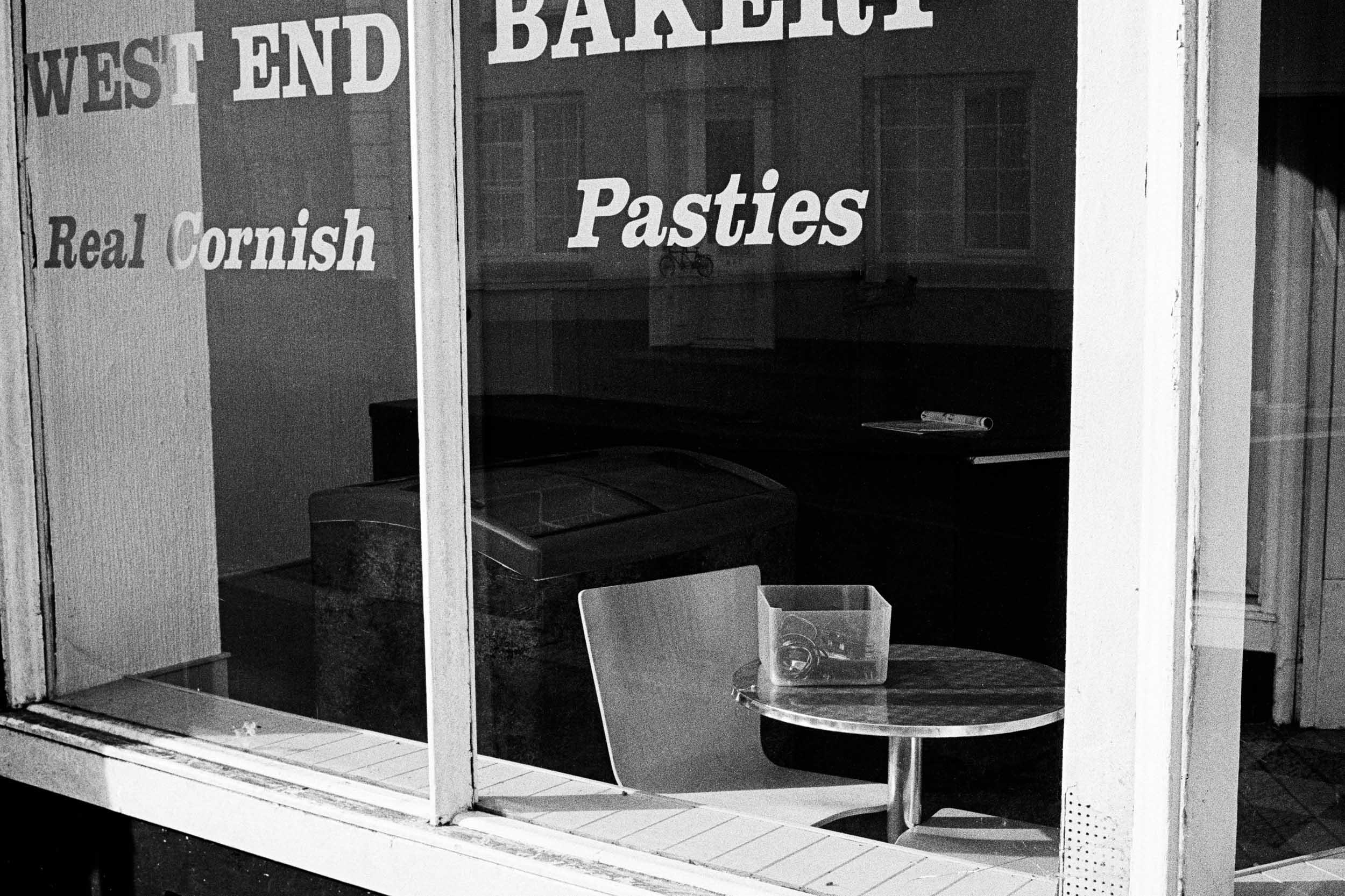 Empty Cornish pasty bakery