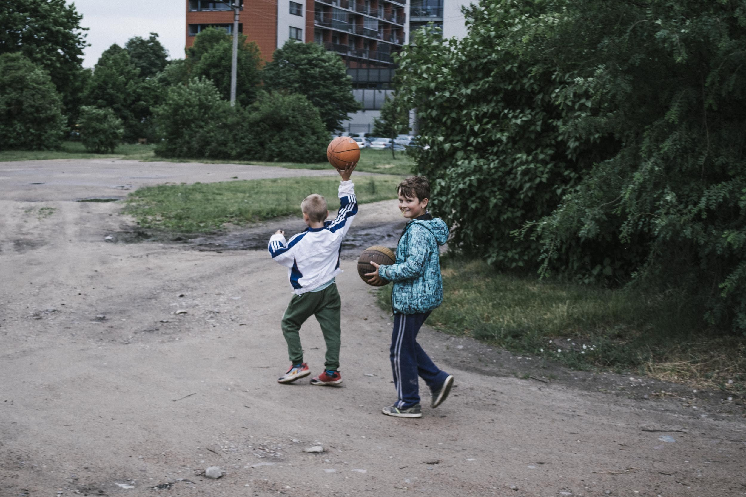 Kids with Basketballs