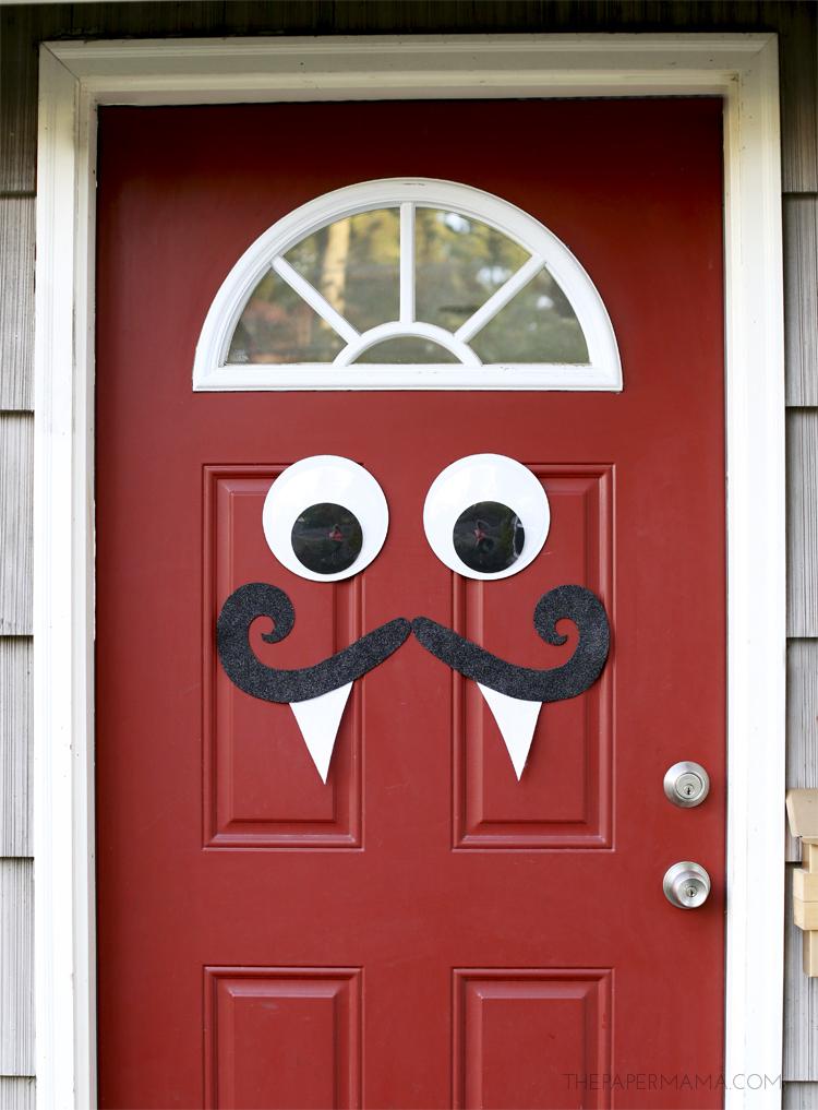 Mustache and Googly Eyes Door