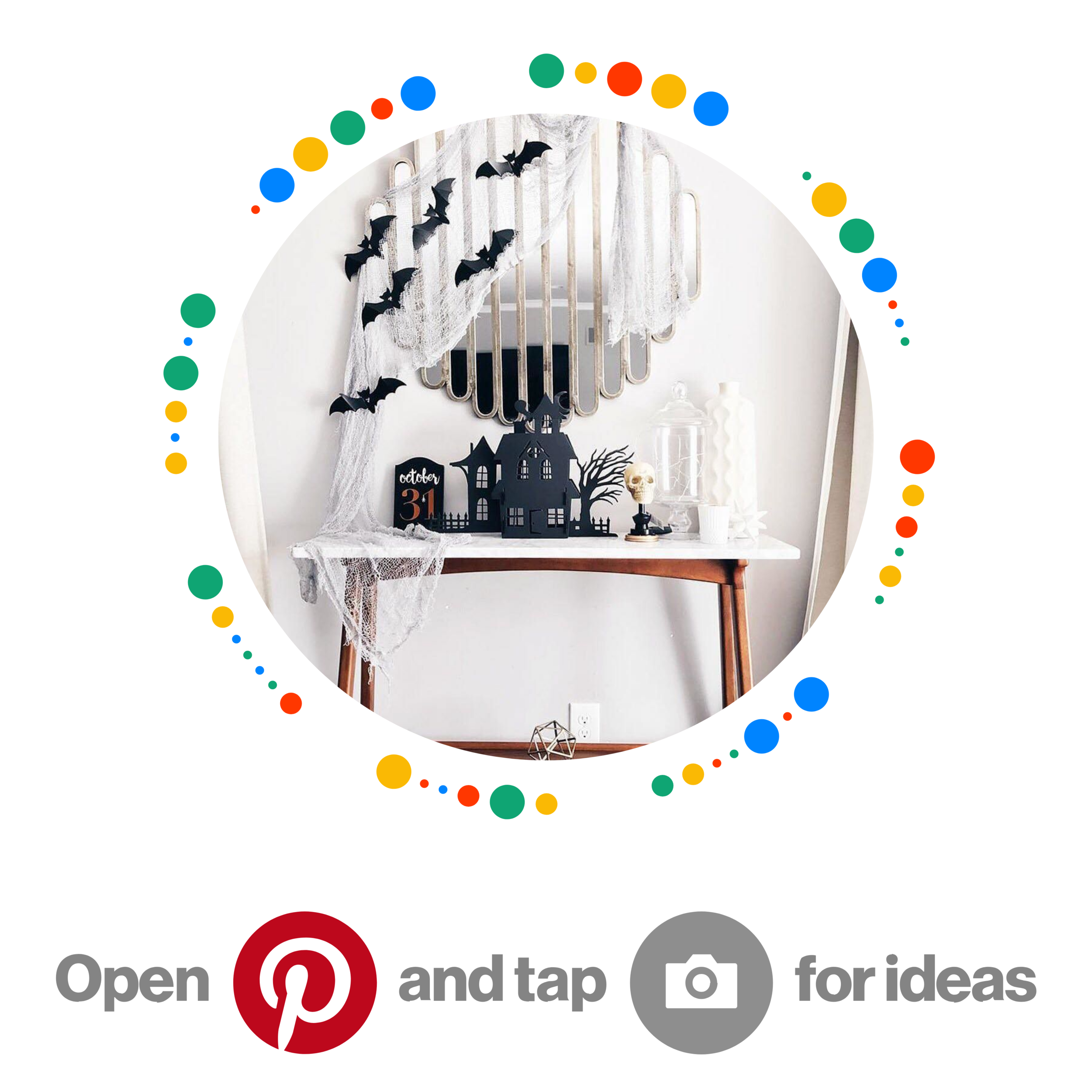 Follow us on Pinterest! - For more Halloween hosting and DIY ideas —> @lazboycomfortstudioOpen up your camera on the Pinterest app and hover over the Pincode you see here! It will take you directly to our Halloween-inspired board.