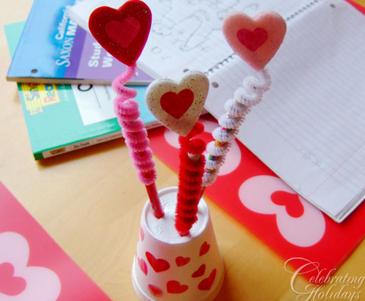 Valentine Pencil Craft