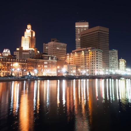 Providence Rhode Island Skyline by Alex Grinchenko