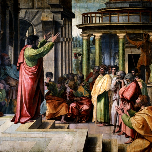 """St Paul Preaching in Athens"" by Raphael"