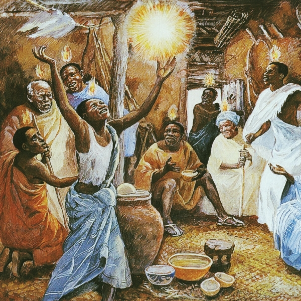JESUS MAFA. Pentecost, from  Art in the Christian Tradition , a project of the Vanderbilt Divinity Library, Nashville, TN.