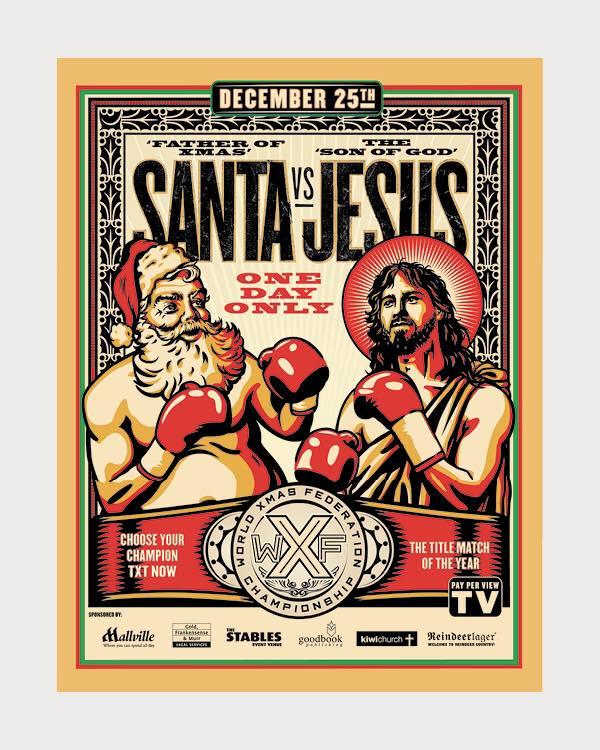 image:  Jesus vs Santa by Chris Fleck and Strategy Creative