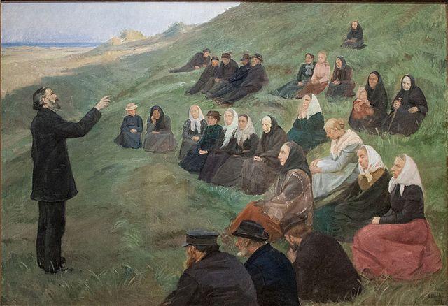 "Photo: A Field Sermon"" by Anna Ancher ( wikimedia )"