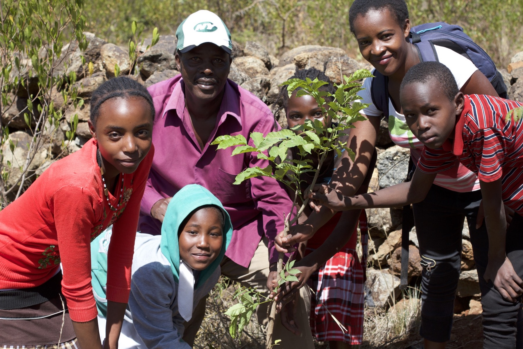 Tree planting at Wana Duma Eco-Village in honor of Earth Day and Wangari Maathai