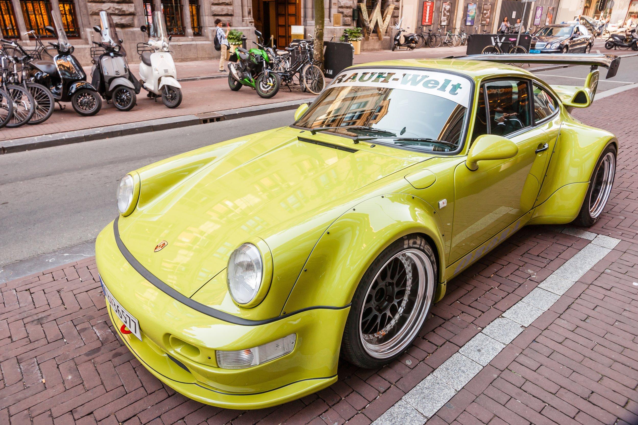 RWB Porsche 964 in front of W Amsterdam Hotel