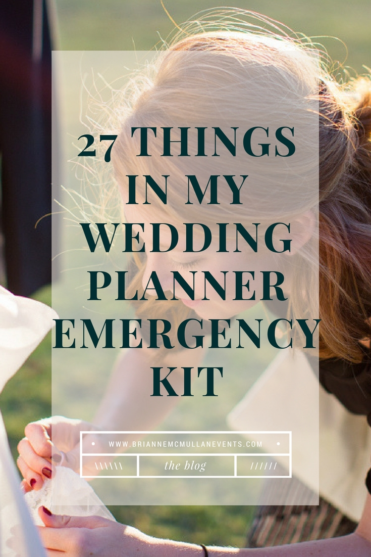 wedding day emergency kit brianne mcmullan events