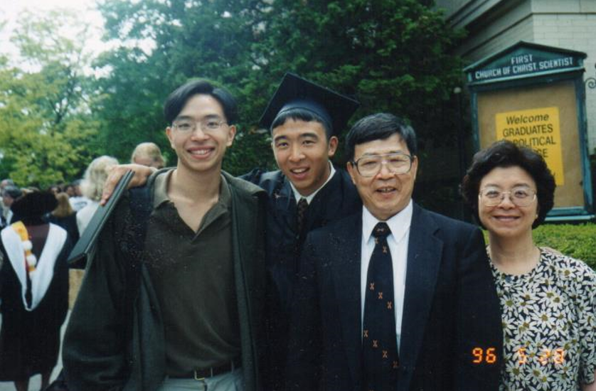Andrew's family celebrates his graduation from Brown