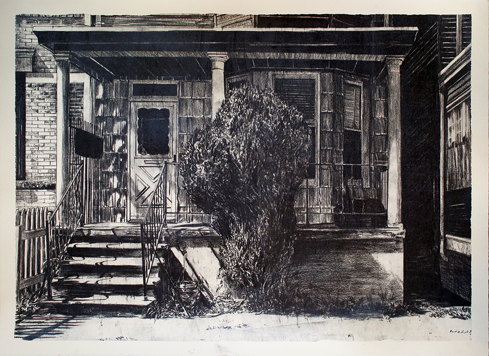 Untitled 4     charcoal on paper    30 x 22 inches    2014