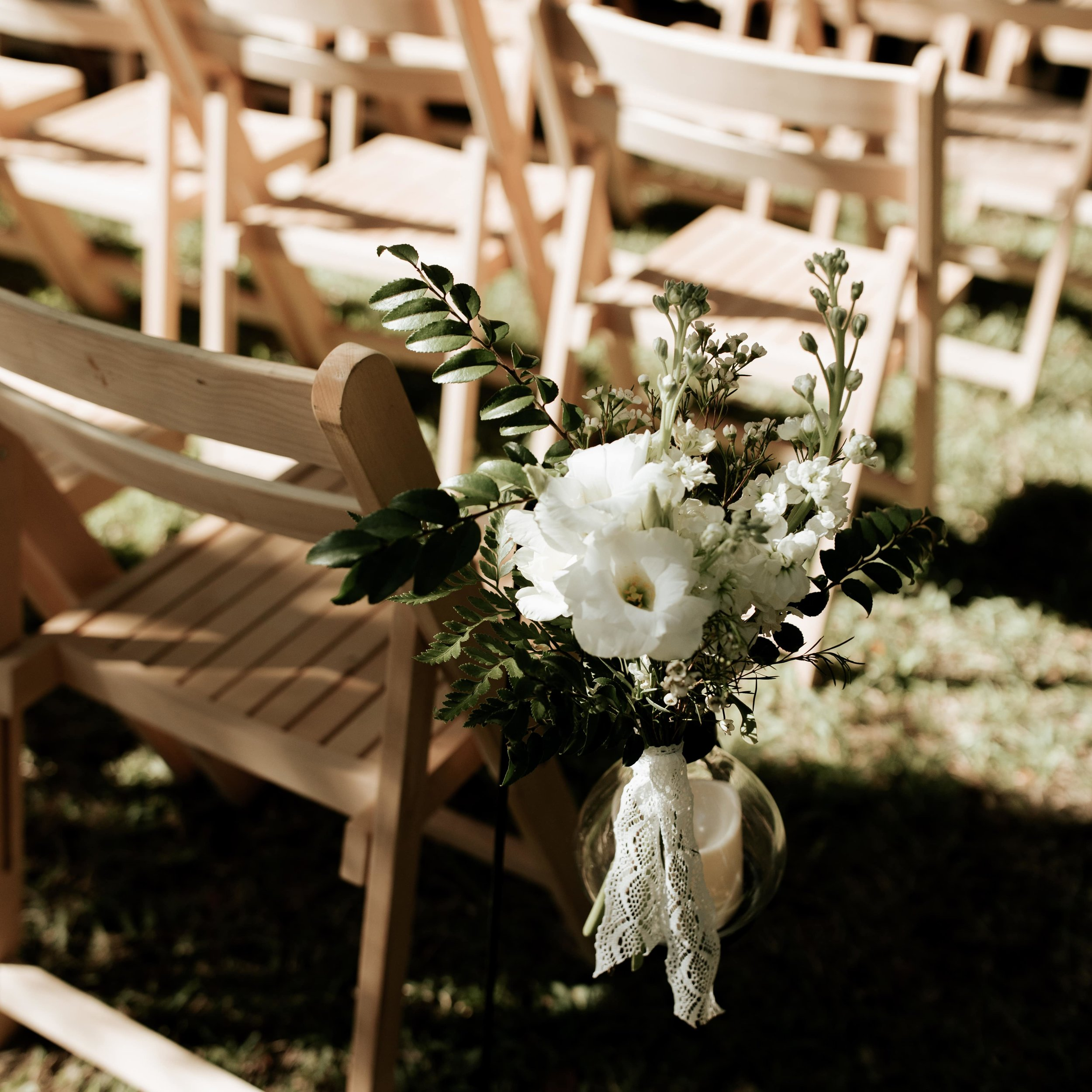 Mary Grace and Judd Kennedy Wedding chairs.