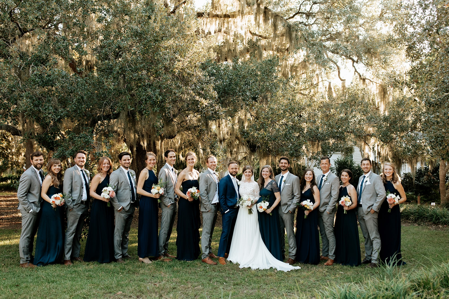 Wedding party at the Mary Grace and Judd Kennedy wedding.