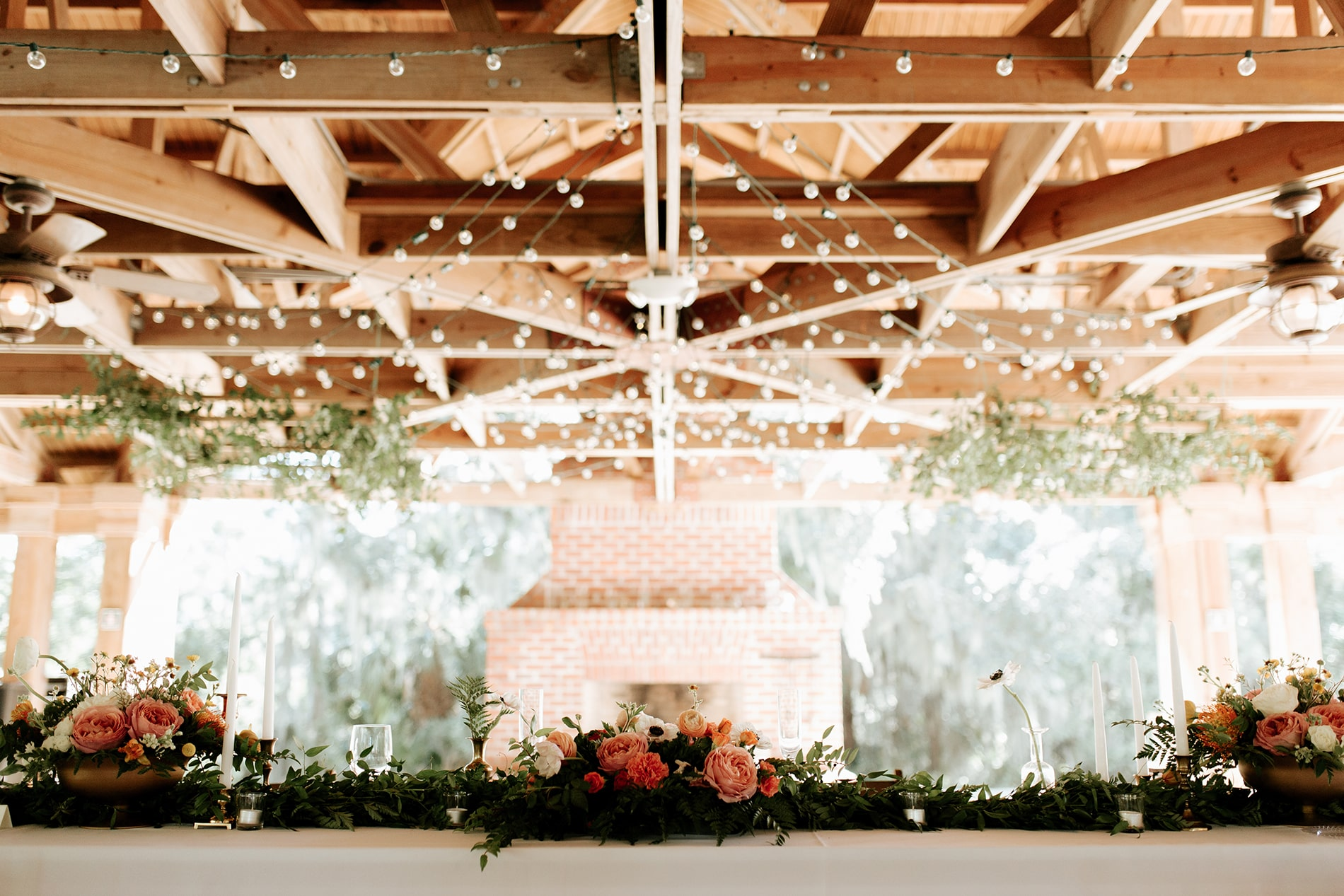 Decorated venue at the Mary Grace and Judd Kennedy wedding.