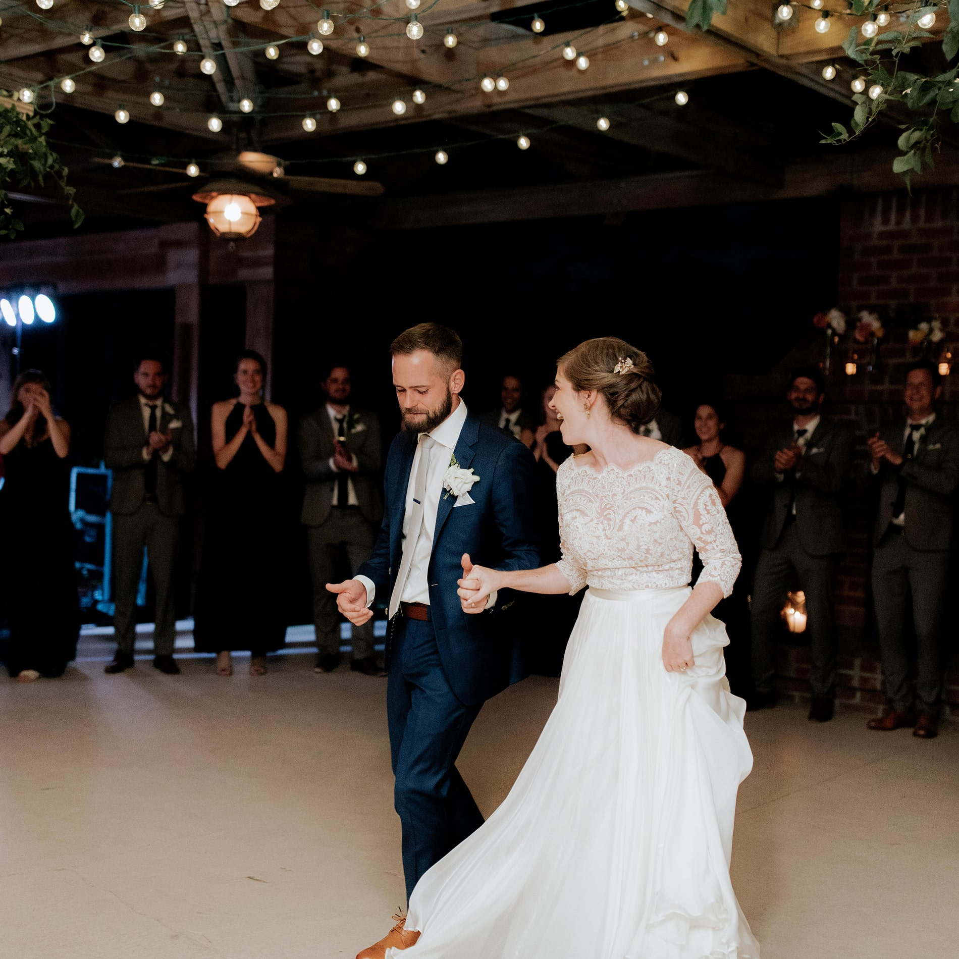 Dance floor at the Mary Grace and Judd Kennedy wedding.