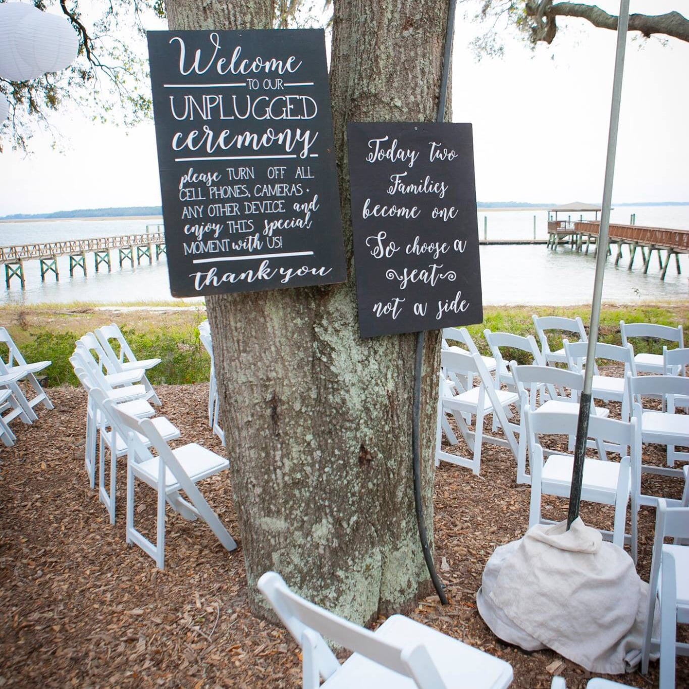 Wedding signage at the Scott and Robin Shay wedding.