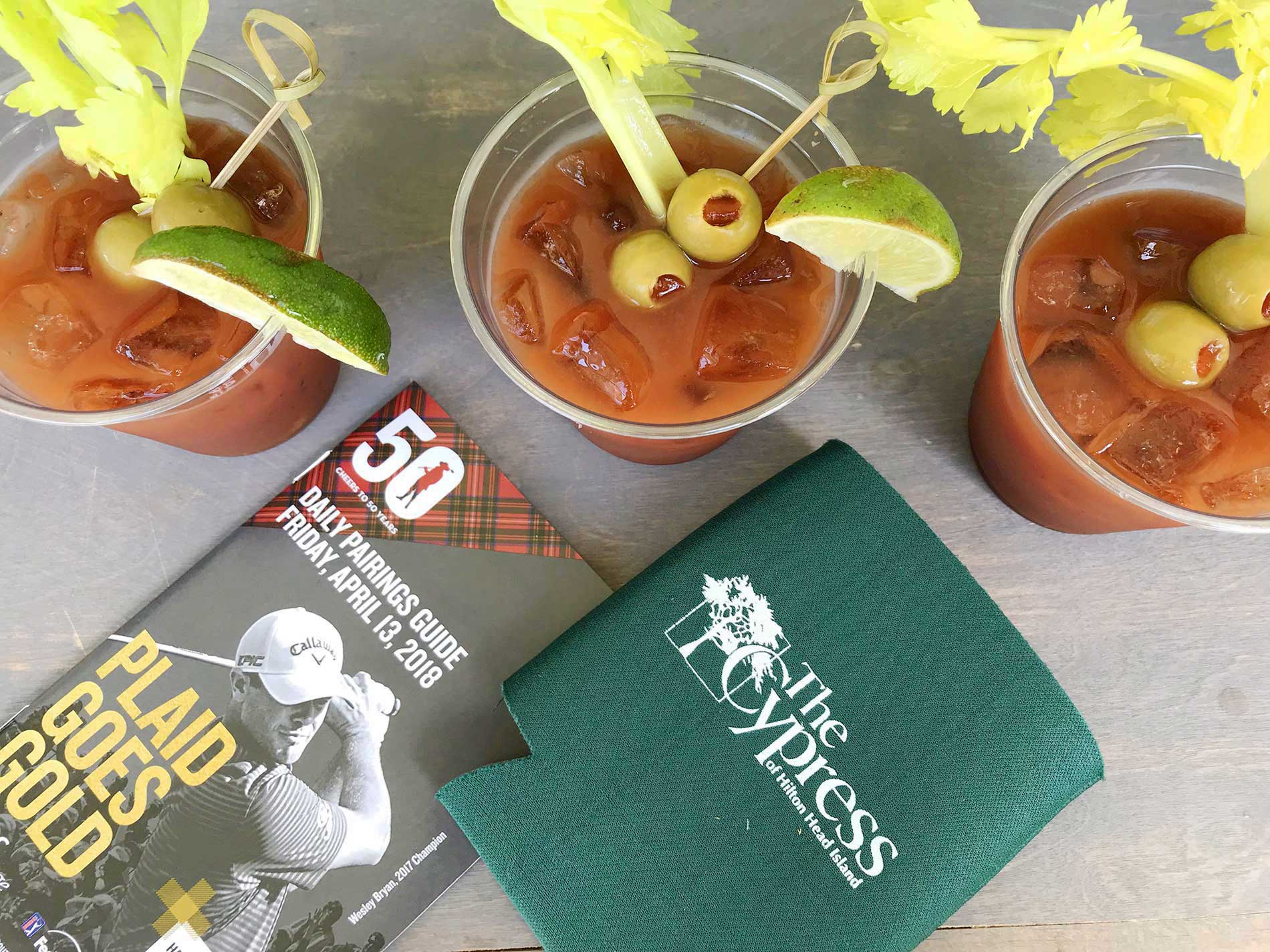 Bloody Marys at the RBC Heritage, Harbor Town Golf Links in Hilton Head, Georgia.