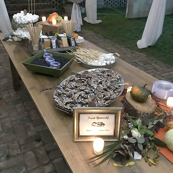 Dessert table at the Pearls to Pluff Mud Event at Swamp Fox Farms in Hardeeville, SC.