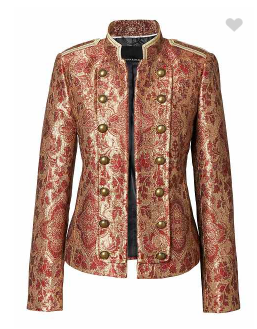 Brocade military jacket