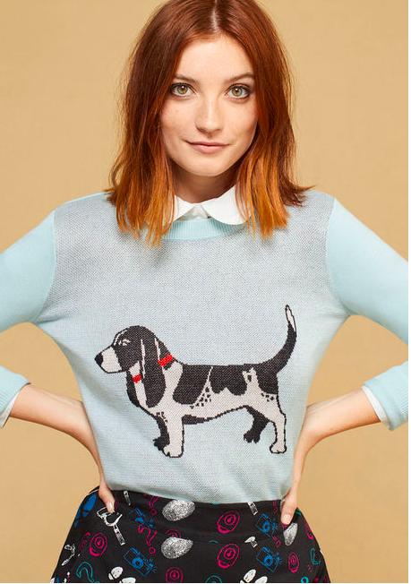 Modcloth puppy sweater