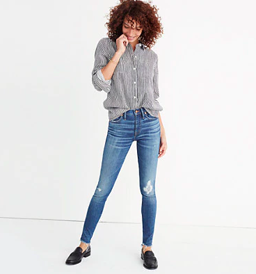 High rise skinny jeans madewell