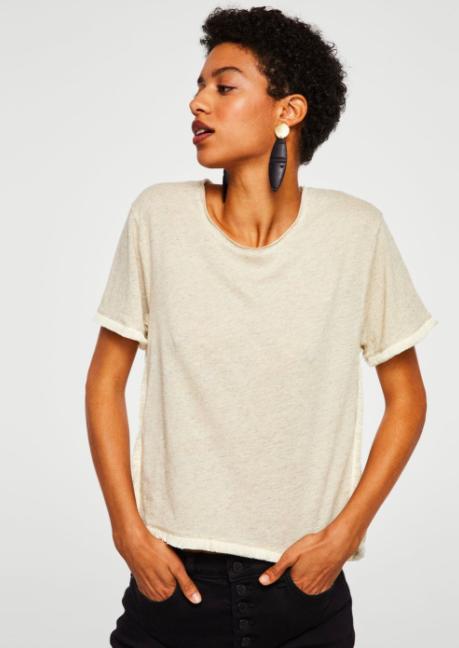 blend t-shirt beige