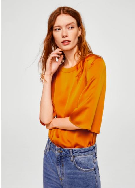 mustard tee shirt