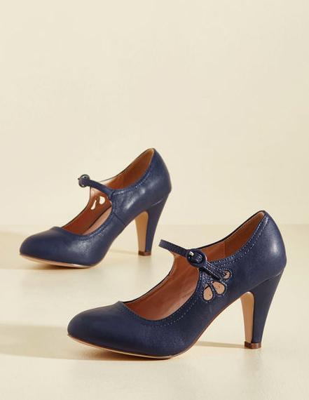 Navy Blue Mary Jane Heels