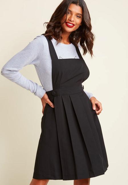 Black Jumper Dress in Black