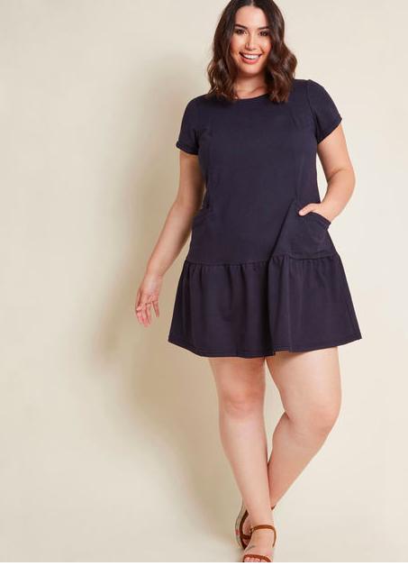 Navy Blue T-shirt Dress