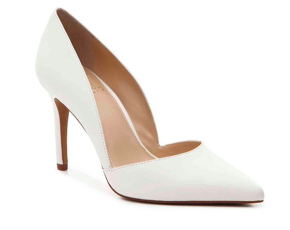 White Vince Camuto pump