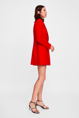 Red Tailored Frock Coat