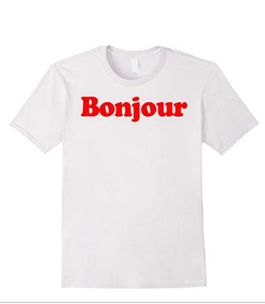 Bonjour tee shirt
