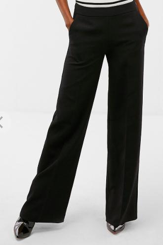 Wide leg black trouser