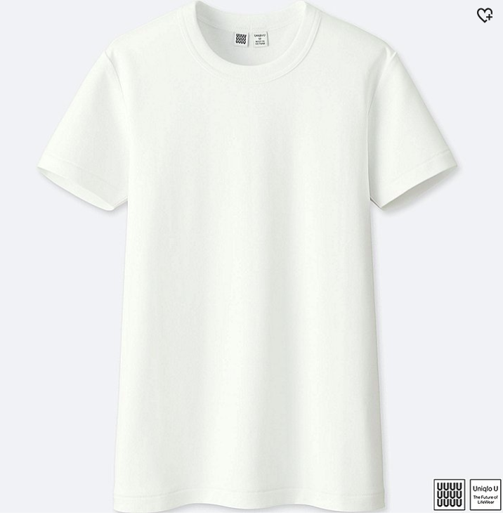 Crew Neck White Tee Shirt
