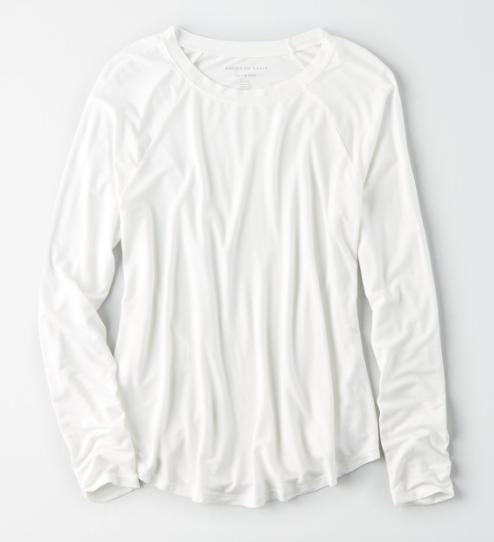 White long sleeve tee shirt