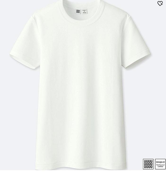 White Crew Neck Tee-Shirt