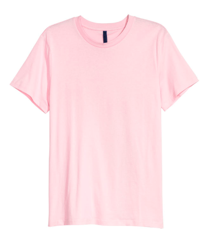 Round-necked T-Shirt in Pink