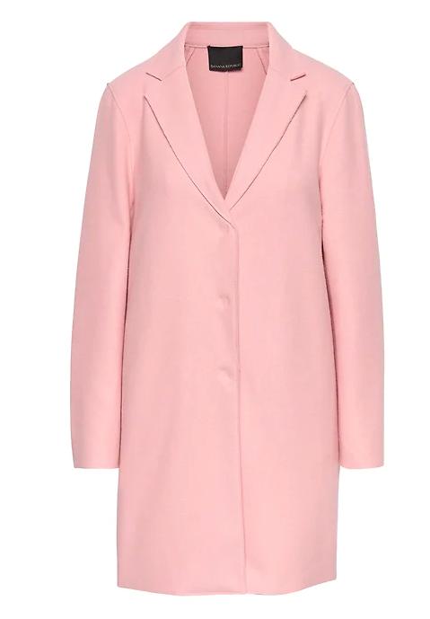 Pink Italian Wool-Blend Coat