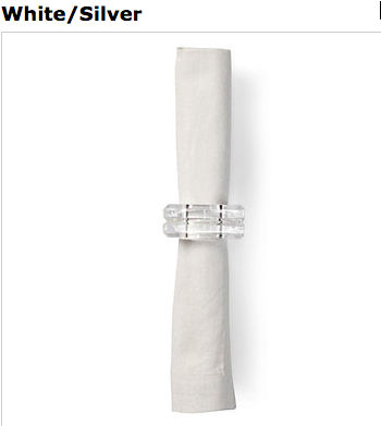 White silver napkins