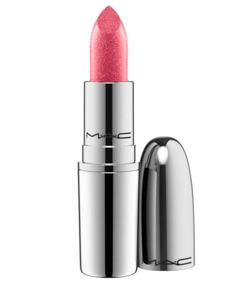 MAC metallic lipstick in a wink of pink